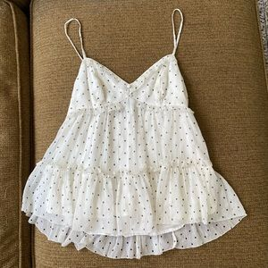 Abercrombie and Fitch ruffle cami size XS
